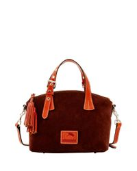 Dooney & Bourke - Red Suede Mini Trina Satchel - Lyst