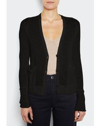 INHABIT | Black Window Pane Cardi | Lyst