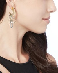 Sarah Magid - Metallic Sliced Up Hoop Earrings - Lyst