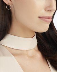Mateo - Metallic Diamond Circle Drop Earrings - Lyst