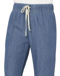 Enza Costa - Blue Chambray Drawstring Pants - Lyst