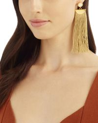 Lizzie Fortunato | Metallic Gold Shoulder Duster Earrings | Lyst