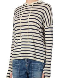 Nili Lotan - Blue Hooded Stripe Sweater - Lyst