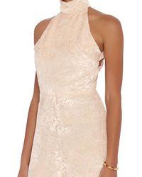 Cushnie et Ochs - Natural Velvet Floral Jumpsuit: Blush - Lyst