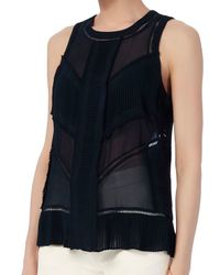 Exclusive For Intermix - Blue Menaka Pleat Blouse - Lyst