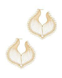 Mallarino - Metallic Chiara Earrings - Lyst