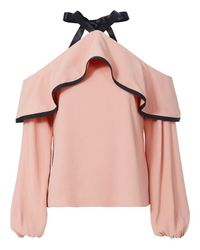 Alexis | Pink Malia Cold Shoulder Blouse | Lyst