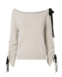 Exclusive For Intermix | Multicolor Lena Off-the-shoulder Sweater | Lyst