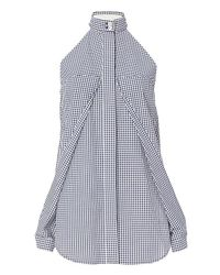 Dion Lee   Multicolor Gingham Sleeve Release Shirt   Lyst