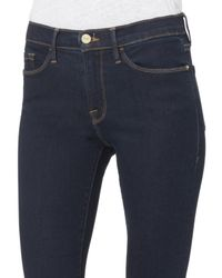 FRAME - Blue Le Crop Bell Grove Jeans - Lyst