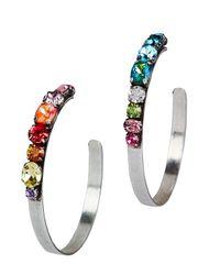 DANNIJO | Metallic Umija Rainbow Hoop Earrings | Lyst