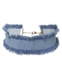 DANNIJO | Blue Frayed Edge Denim Choker | Lyst