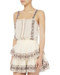 LoveShackFancy - White Anna Embroidered Tiered Dress - Lyst