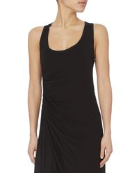 A.L.C. - Black Lelah Ruched Mini Tank Dress - Lyst