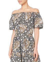 A.L.C. - Multicolor Doris Off-the-shoulder Dress - Lyst