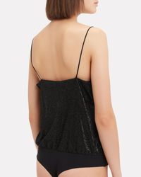 Alix - Black Dean Metallic Bodysuit - Lyst