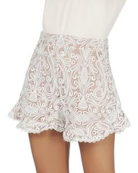 Alexis | Barron White Lace Shorts | Lyst