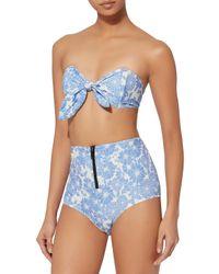 Lisa Marie Fernandez - Blue Poppy Floral Bikini - Lyst