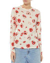 Proenza Schouler - Multicolor Poppy Floral Tissue Tee - Lyst
