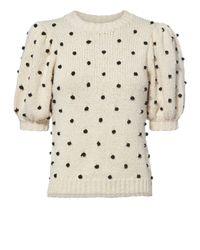 Ulla Johnson - Multicolor Bettine Polka Dot Embroidered Sweater - Lyst