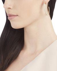 Sarah Magid | Metallic Pavé Slice Hoop Earrings | Lyst