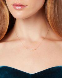 Adina Reyter - Metallic Pavé Crossover Curve Necklace - Lyst