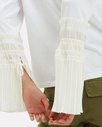 3.1 Phillip Lim White Pleated Cuff Shirt