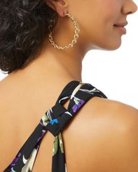 Rosantica - Metallic Curved Chain Link Hoops - Lyst