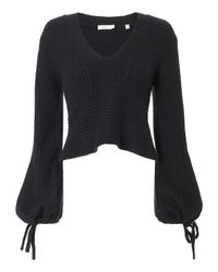 A.L.C. - Blue Schwartz Tie Sleeve Sweater - Lyst