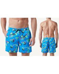 Intimissimi - Blue Full-length Flower Print Swim Trunks for Men - Lyst