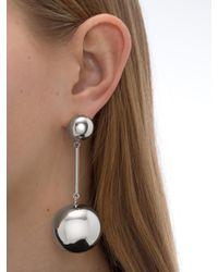 J.W.Anderson | Metallic Silver Sphere Drop Earrings | Lyst