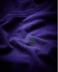 Polo Ralph Lauren - Purple Tall V-neck Jumper for Men - Lyst