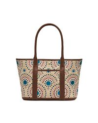 Jack Rogers | Brown Cameron Embroidered Medium Tote | Lyst