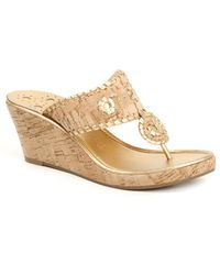 Jack Rogers | Natural Marbella Mid Wedge | Lyst