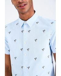Jack Wills - Blue Barson Short Sleeve Embroidered Shirt for Men - Lyst