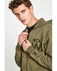 Jack Wills - Green Hartfield High Neck Zip Through for Men - Lyst