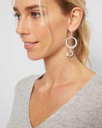 Jaeger - Multicolor Melissa Metal And Crystal Loop Earrings - Lyst