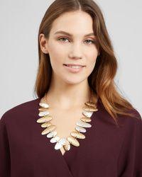 Jaeger - Metallic Amanda Ovals Short Necklace - Lyst
