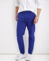 Jaeger - Blue Garment Dyed Twill Chino for Men - Lyst
