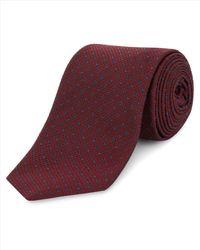 Jaeger - Purple Silk Textured Diamond Dot Tie for Men - Lyst