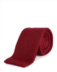 Jaeger - Red Silk Knitted Slim Tie for Men - Lyst