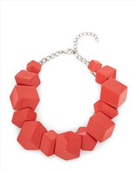 Jaeger | Red Flat Cube Cluster Necklace | Lyst