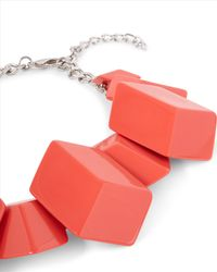 Jaeger - Red Flat Cube Cluster Necklace - Lyst