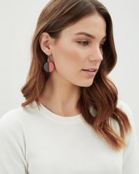 Jaeger - Multicolor Orange Graphic Resin Disc Earring - Lyst