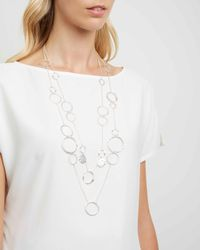 Jaeger - White Madison Links Necklace - Lyst