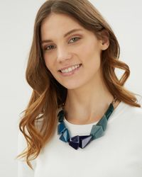 Jaeger - Blue Bridget Necklace - Lyst