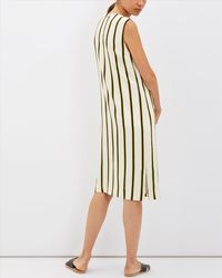 Jaeger - Multicolor Bi-colour Stripe Dress - Lyst