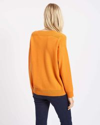 Jaeger - Orange Cashmere Boxy Pocket Sweater - Lyst