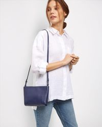 Jaeger | Blue Icon Leather Cross-body Bag | Lyst