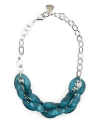 Jaeger - Green Jenna Links Short Necklace - Lyst